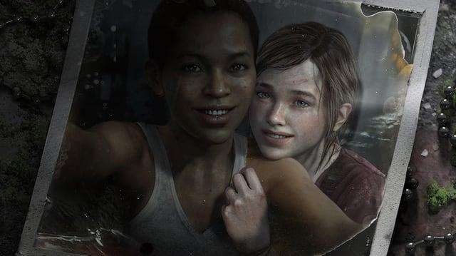 Ein Polaroid-Foto der beiden lachenden Mädchen.