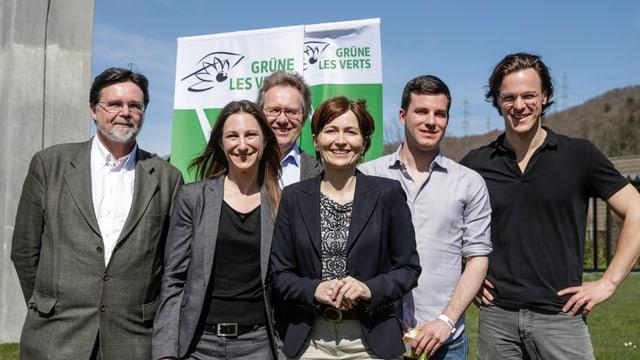 Das Präsidium der Grünen posiert für ein Foto