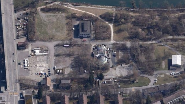 Luftbild des Gaswerkareals.