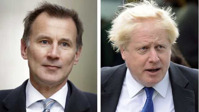 Hunt und Johnson (von links)