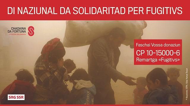 Logo dal Di naziunal da solidaritad per fugitivs.