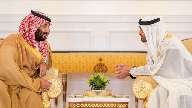 Die Kronprinzen im November 2018 in Riad.