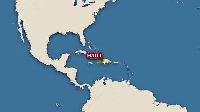 Haiti auf einer Karte