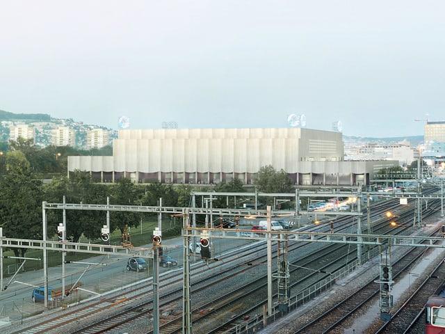 Das neue Stadion des Eishockeyclubs ZSC Lions.