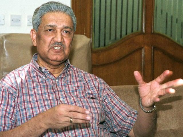 Abdul Qadir Khan in einem Fernsehinterview.