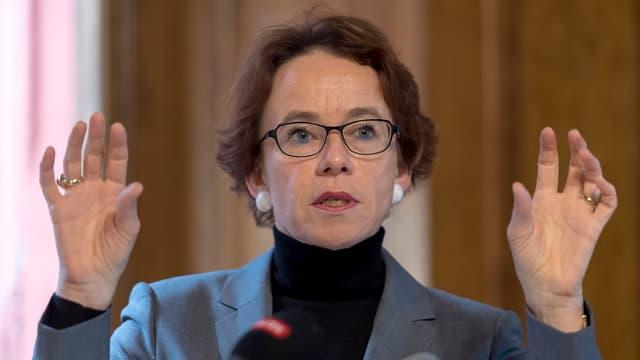 Porträt der Basler Finanzdirektorin Eva Herzog.