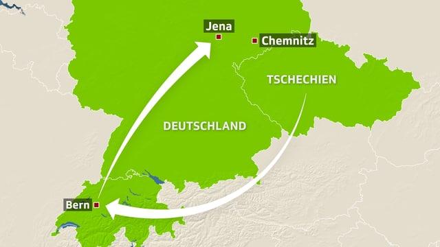 Die Tatwaffe, die bei allen zehn NSU-Morden eingesetzt wurde, gelangte von Tschechien über die Schweiz nach Deutschland.
