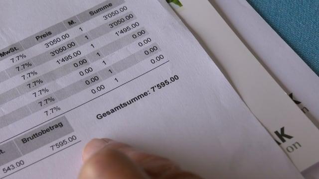 Die Offerte von über 7500 Franken
