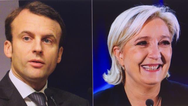Emmanuel Macron e Marine Le Pen.