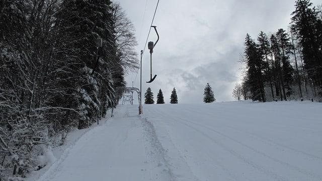 Der Skilift auf dem Grenchenberg im Jahr 2014.