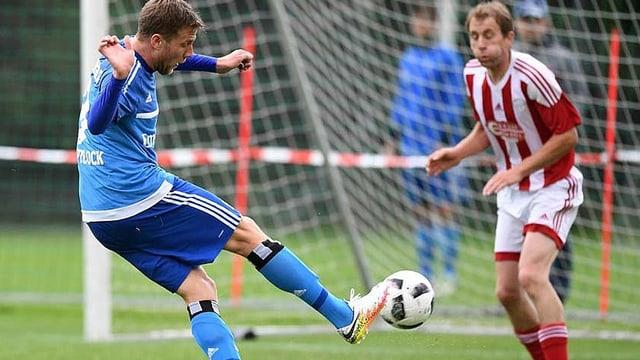 Sven Schipplock ha sajettà passa la mesadad dals gols da la partida.