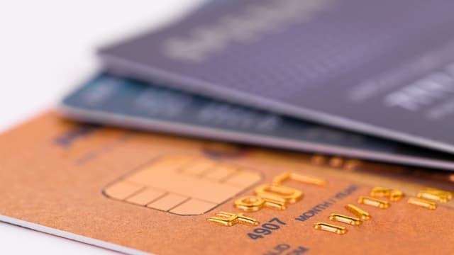 Kreditkarten im Grossformat