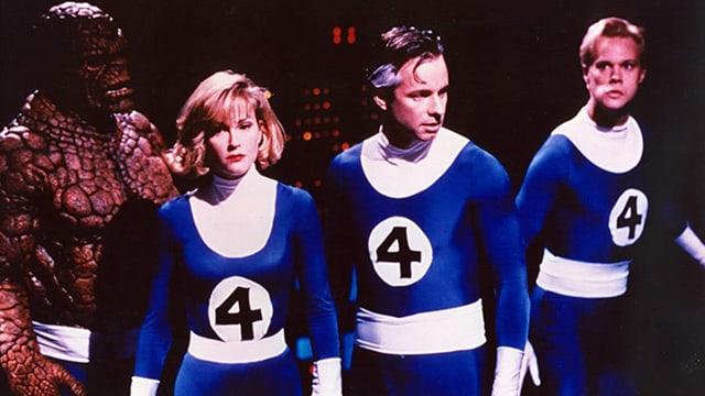 Das Heldenquartett The Fantastic Four aus dem gleichnamigen Film aus dem Jahr 1994.