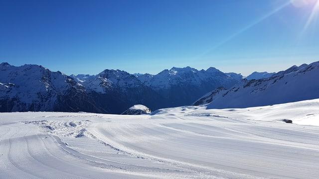 Impressiuns dal territori da skis da San Bernardino da questa stagiun d'enviern.