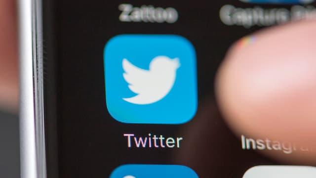 Twitter-Icon auf einem Smartphone
