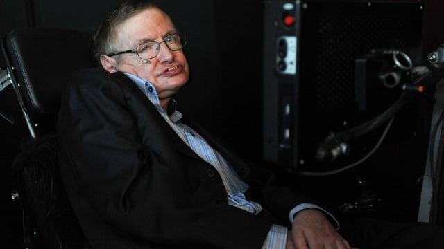 Stephen Hawking in seinem Hightech-Rollstuhl