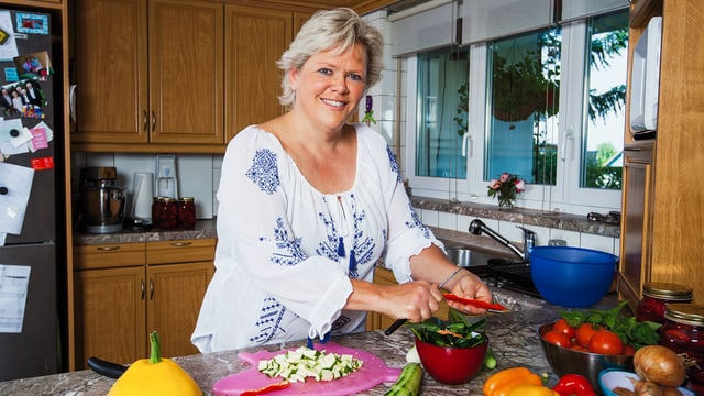 Janine Fischer in der Küche.