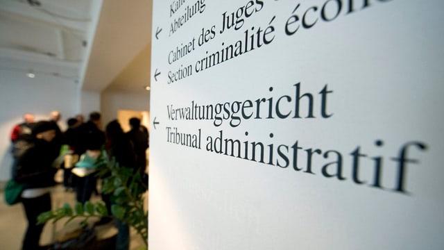 Schriftzug «Verwaltungsgericht».