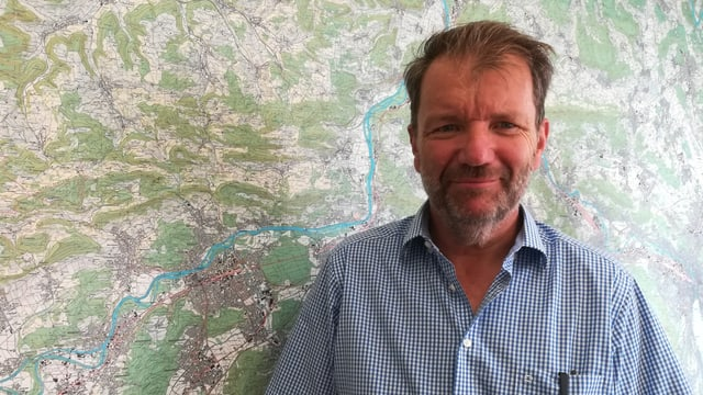 Rolf Meier vor Aargau-Karte