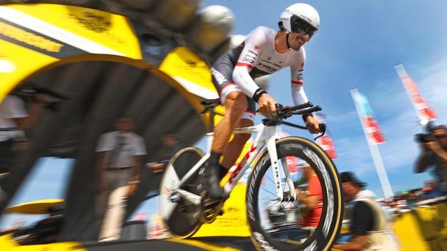 Il ciclist Fabian Cancellara en acziun.