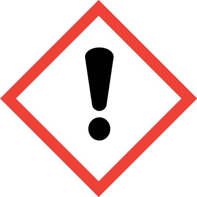 Gefahrenzeichen: Schwarzes Ausrufezeichen