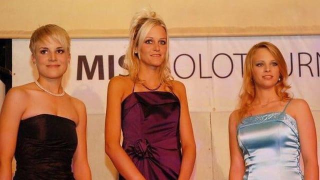 Andrea bei der Miss Solothurn Wahl