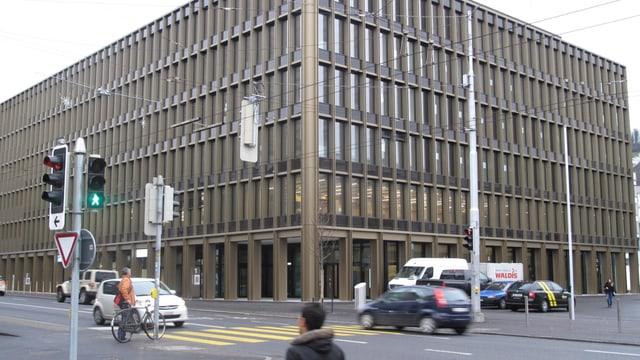 Das neue Stadthaus von Kriens: Ein markanter, rechteckiger Bau mit sechs Geschossen