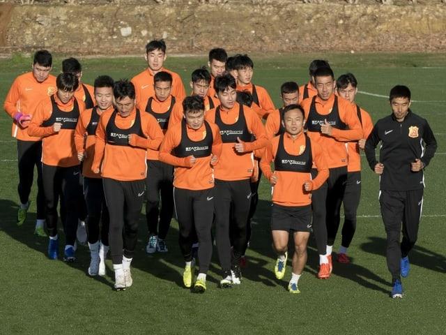 Das Fussball-Team aus Wuhan.