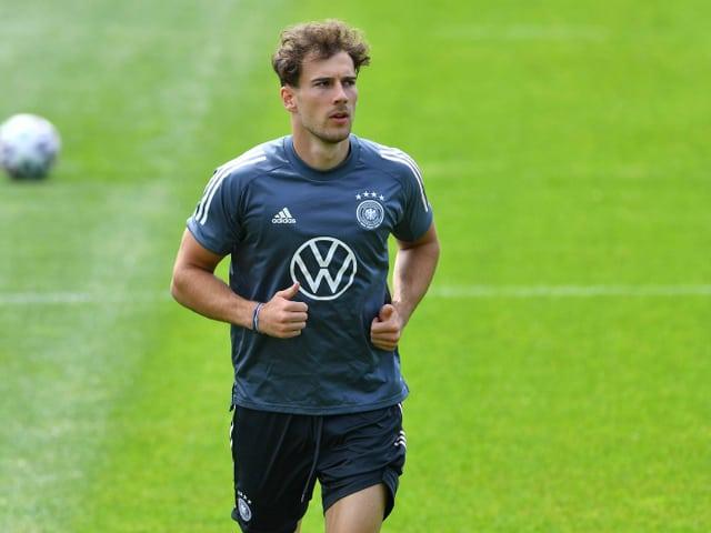 Leon Goretzka im Trainingsdress der deutschen Nationalmannschaft