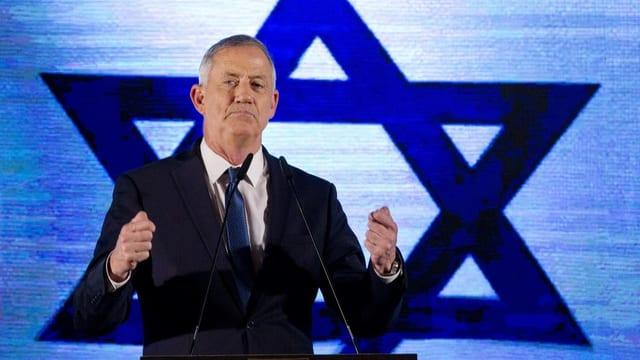Der Herausforderer von Benjamin Netanjahu, Benny Gantz.
