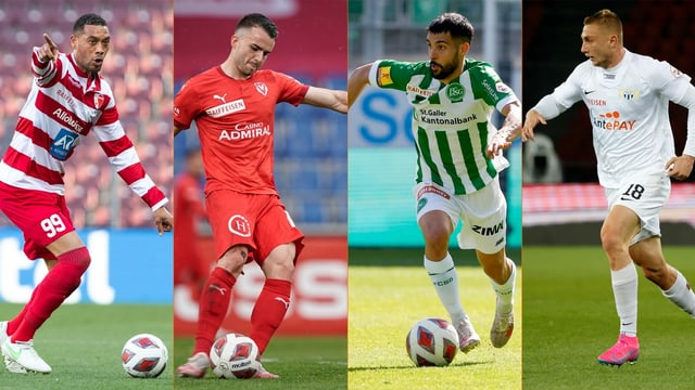 Sion, Vaduz, St. Gallen und der FC Zürich.
