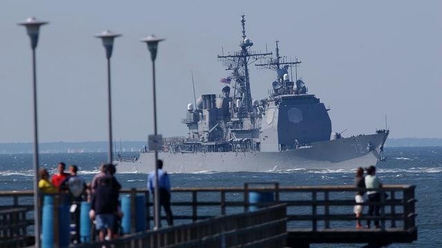 Archivbild der USS Mahan vor der US-Küste.