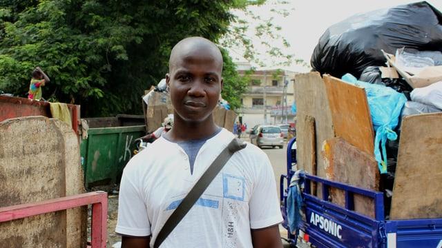 Portrait von Gantien Tai, Müllmann in Abidjan, Elfenbeinküste