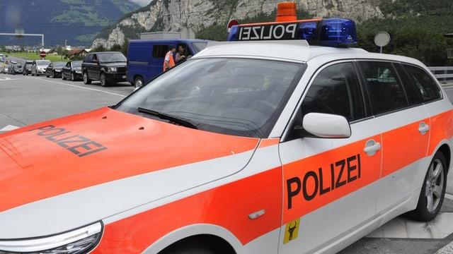 Ein Auto der Urner Polizei.
