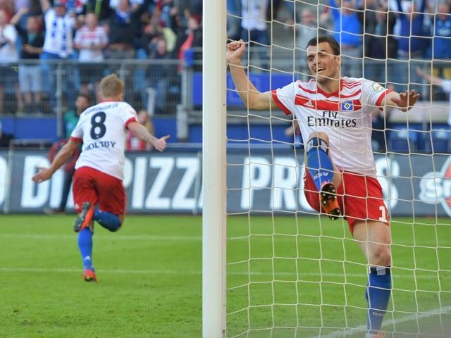 Ausgelassene Freude bei Hamburger SV