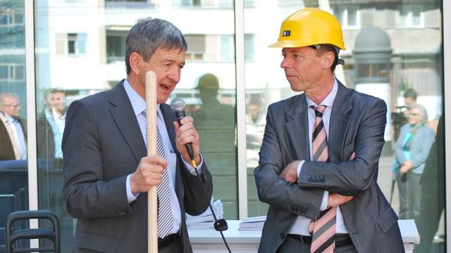 Baudirektor Willig Haag und Stadtpräsident Erich Zoller