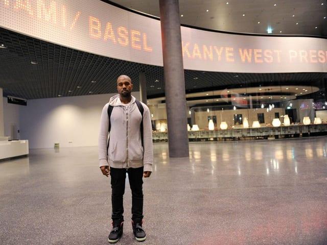 Kanye West an der Art Basel.