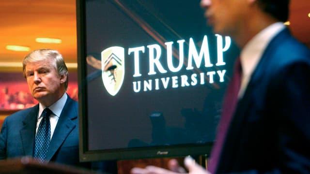Zu sehen Donald Trump auf einer älteren Aufnahme.