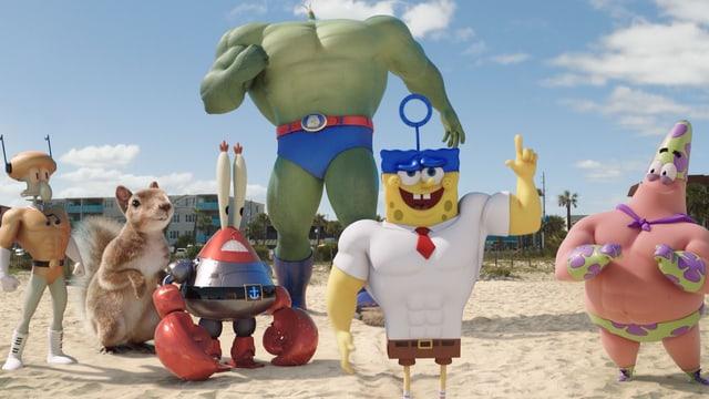 Spongebob und seine Freunde als Superhelden