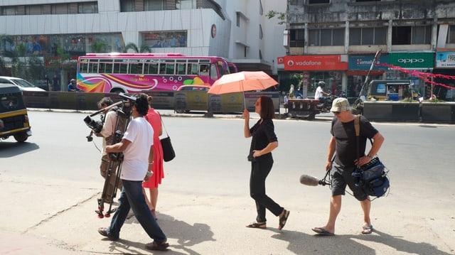 Dreharbeiten in Calicut, Indien.