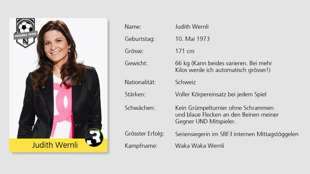 Kommt mit ihrem Charme an jedem Fussballer vorbei: SRF 3 Moderatorin Judith Wernli.