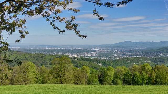 Blick auf Basel von Himmelried aus