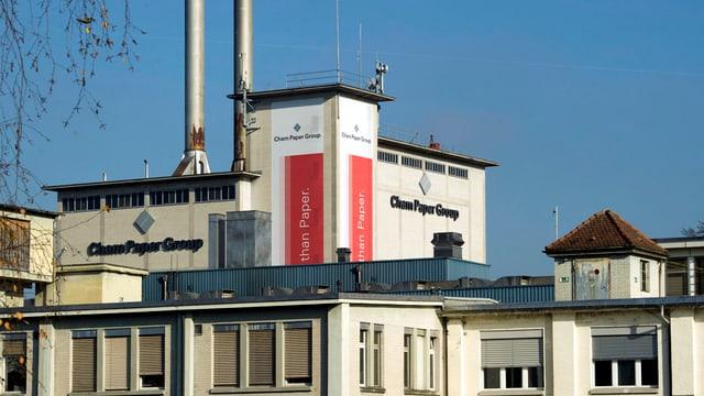 Das Gebäude der Cham Paper Group in Cham