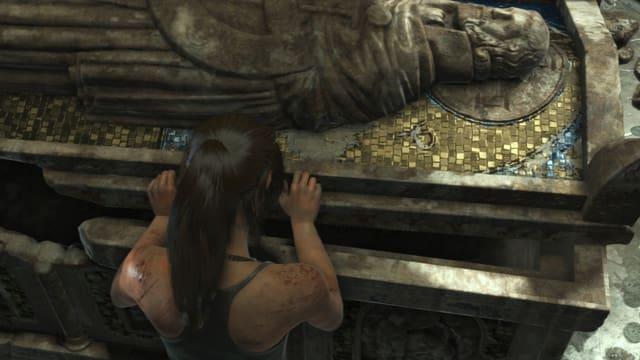 A Tomb Raider raiding tombs.