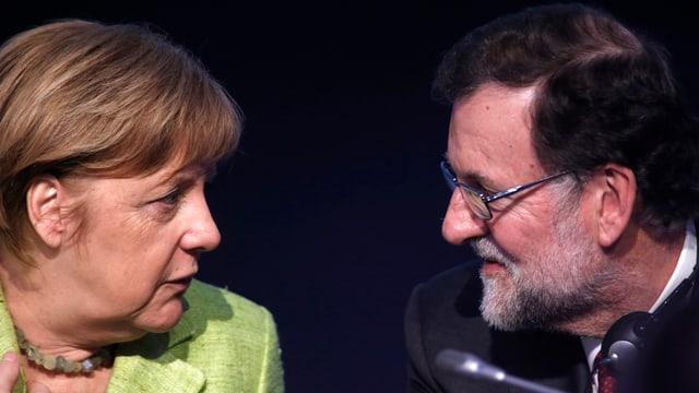 Kanzlerin Merkel mit dem spanischen Premier Rajoy