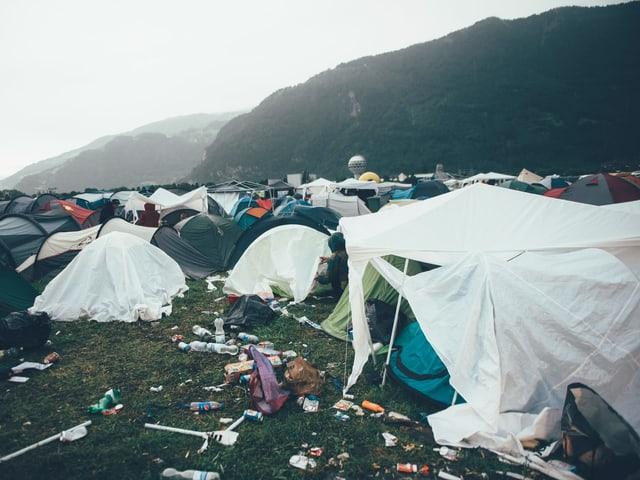 Kaputte Zelte