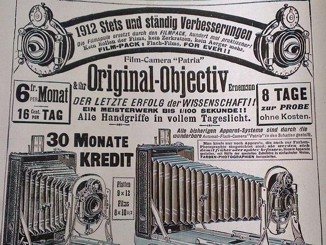 Werbeinserat für Filmkamera aus Schweizer Illustrierten