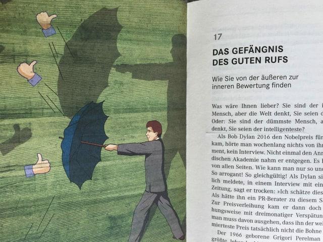 Illustration in «Die Kunst des guten Lebens» zu Kolumne Nummer 17 von El Bocho