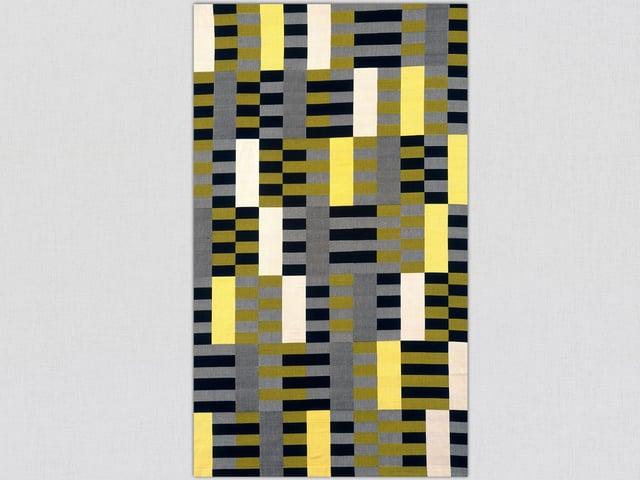 Abbildung eines Teppichs mit Streifenmuster.