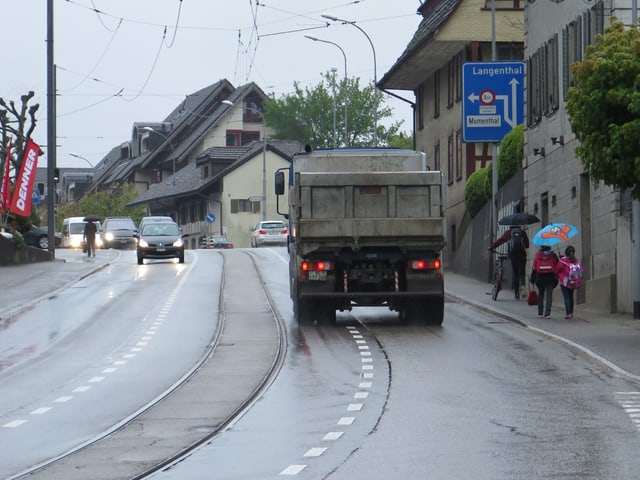 Ortsdurchfahrt Aarwangen.